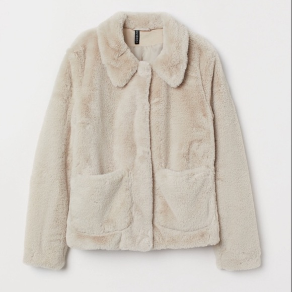 search for latest well known wide varieties New! H & M Faux Fur Teddy Jacket: Tan/Beige NWT
